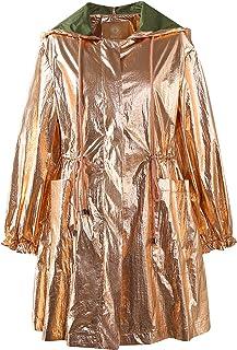 ELFSACK Parka para mujer, acabado metálico, con capucha, ligera, chubasquero de entretiempo, brillante para fiestas