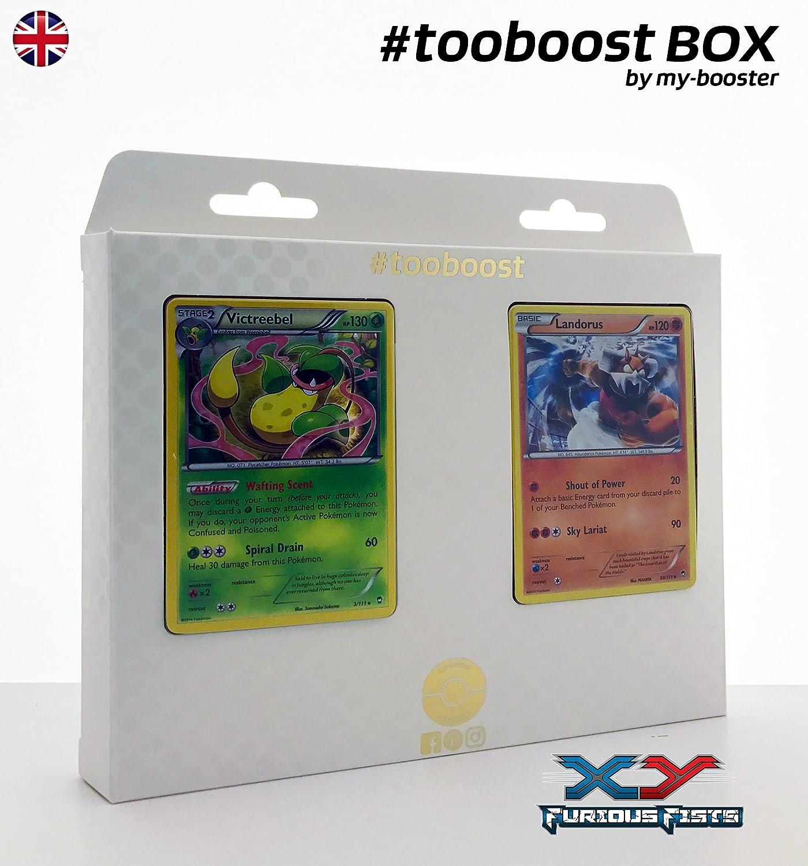 Box tooboost Victreebel and LANDORUS  XY03  10 English Pokemon Trading Cards