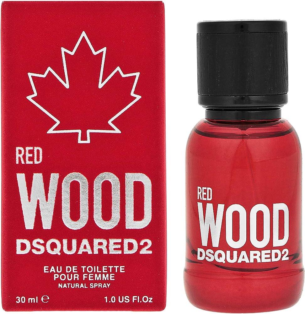Dsquared2 red wood ,eau de toilette  per donna ,30 ml, spray 8011003852673