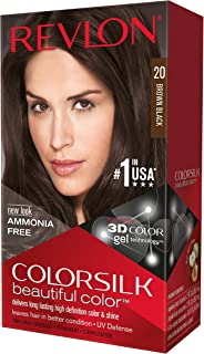 Revlon ColorSilk Hair Color, 20 Brown Black 1 ea(Pack of 3)