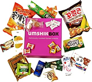 Korean snack box with ramen- Asian snacks and candy (Deluxe)