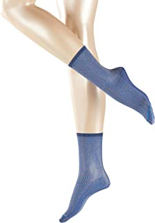 ESPRIT Esprit Socken Glitter Baumwolle Damen grau blau viele weitere Farben verstärkte Damensocken mit Muster atmungsaktiv gestreift gerippt bunt 1 Paar