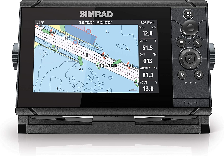Simrad Cruise 7-7-inch GPS Chartplotter with 83/200 Transducer, Preloaded C-MAP US Coastal Maps