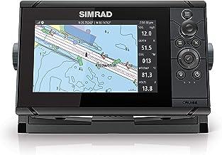 Simrad Cruise 7-7 pulgadas GPS Chartplotter con transductor 83/200, mapas costeros precargados C-MAP US