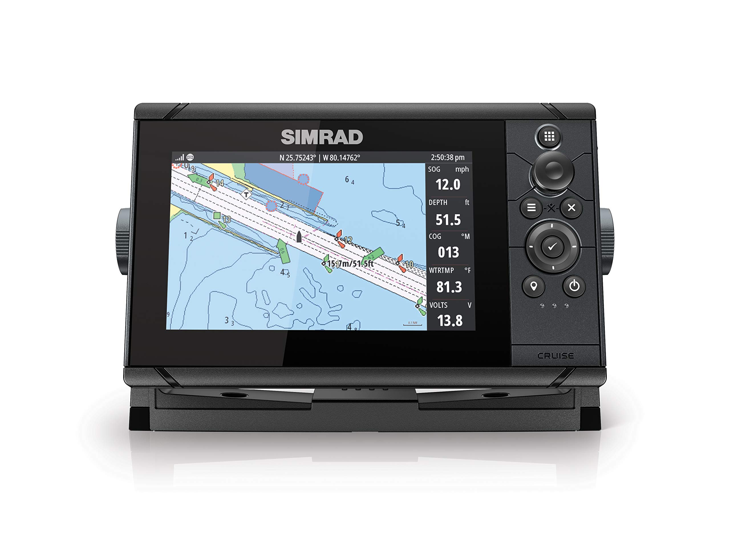 Simrad Cruise 7 Plotter Coastal Installed