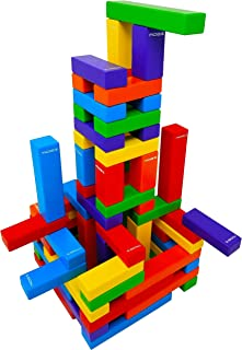 Magz Wooden Bricks 60 Piece Magnetic Building and Stacking Blocks Set
