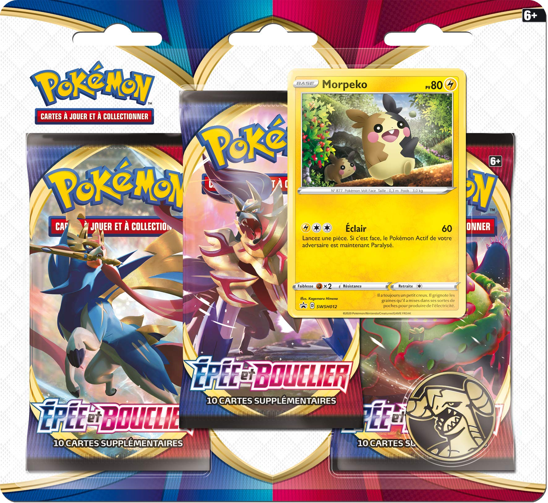 Pokemon Sword and Shield Series 1 (EB01) : Pack of 3 Boosters, 3PACK01EB01