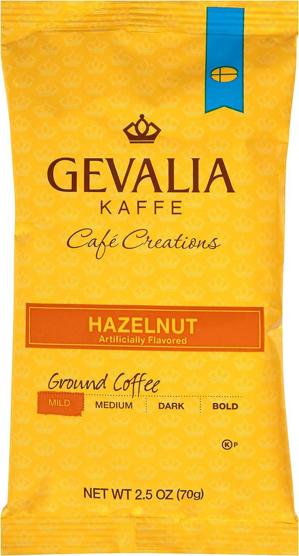 Gevalia Hazelnut Ground Coffee (2.5oz Pack of 24)