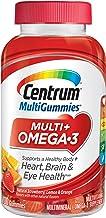 Centrum MultiGummies Omega 3 Gummy Multivitamin for Adults, Multivitamin/Multimineral Supplement, Strawberry/Lemon/Orange Flavors - 100 Count + 2 Free Months of obé Fitness