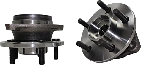 Brand New (Both) Front Wheel Hub and Bearing Assembly fits: 1999-01 Jeep Cherokee (with FULL CAST Rotors), 2000-06 TJ (All 4x4 models), and 2000-06 Wrangler (All 4x4 Models) 5 Lug (Pair) 513158 x2