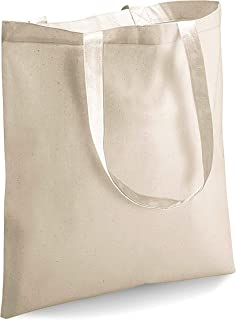 BULK 12 PACK (1 Dozen) Wholesale 100% Cotton Tote Bags, Plain Reusable Art and Craft Party Pack Tote Bags, Kitchen Storage Organization Tote Bags