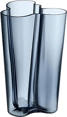 Iittala Alvar Aalto Collection Finlandia Vase Flower Vase Indoor Vase Table Vase Vase Glass Rain 25 1 Cm 1007825 Alvar Aalto Amazon Co Uk Kitchen Home