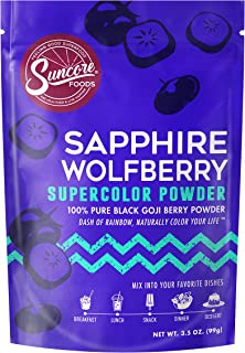 Suncore Foods – Premium Sapphire Wolfberry Supercolor Powder, 3.5oz – Natural Wolfberry Food Coloring Powder, Plant Based,...