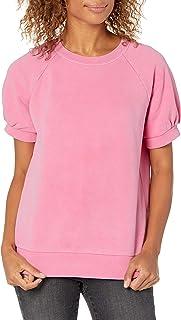 Amazon Brand - Goodthreads Women's Modal Fleece Blouson Short-Sleeve Shirt