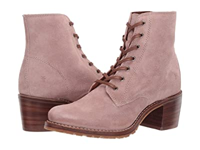 Frye Sabrina 6G Lace Up (Pale Blush Hairy Suede) Women