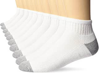 Men's 10-Pack Cotton Half Cushioned Ankle Socks