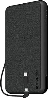 mophie 401101663 Powerstation Plus XL (10,000mAh) - Qi Wireless Charging with Built in Micro USB and Lighning Cables - Black