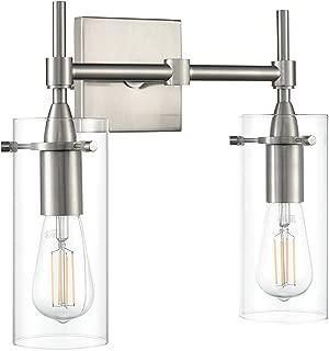 Effimero 2 Light Bathroom Vanity Light | Brushed Nickel Hallway Wall Sconce LL-WL32-1BN
