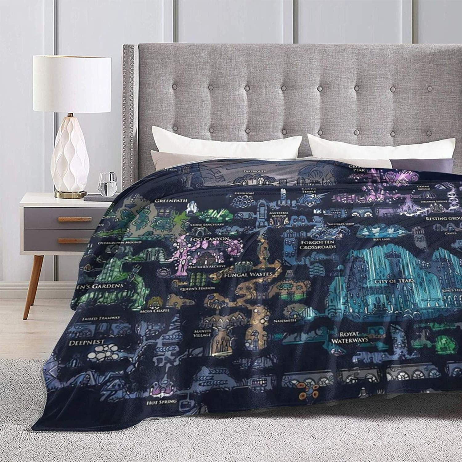 Hollow Knight Map Ultra-Soft Ranking TOP15 Micro Fleece X50 Safety and trust 60