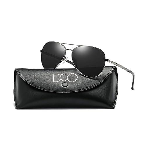 1fe8e04dad Duco Cool Piloto vidrios gafas de sol clásico unisex gafas piloto espejo  UV400 filtro categoría 3