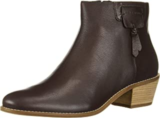 Cole Haan Women's Joanna Bootie (45MM) Ankle Boot, Dark Brown Tumbled Leather, 8.5 B US