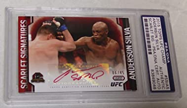 Anderson Silva Signed 2015 UFC Champions Scarlet Signatures Auto Card 45 - PSA/DNA Certified - Autographed UFC Cards