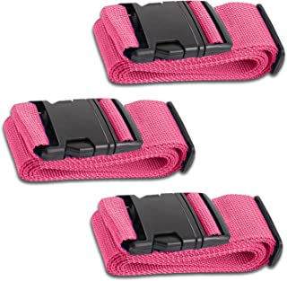 HeroFiber Men's Luggage Belts Suitcase Straps Adjustable and Durable Travel Case Accessories 3 Pack