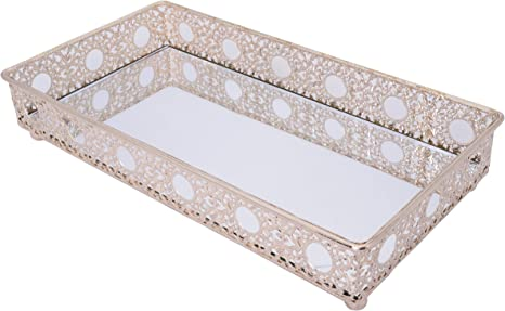 Amazon Com Bathroom Mirror Tray Cosmetics Tray Perfume Collection Tray For Arranging Perfume Jewelry Makeup Home Kitchen