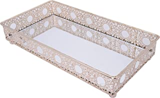 Bathroom Mirror Tray, Cosmetics Tray, Perfume Collection Tray for Arranging Perfume Jewelry Makeup…