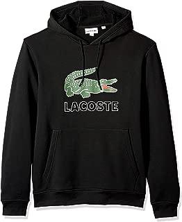 Lacoste Men's Long Sleeve Graphic Croc Brushed Fleece Jersey Hoodie