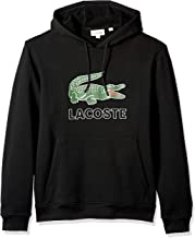 Lacoste Men's Long Sleeve Graphic Croc Brushed Fleece Jersey Hoodie