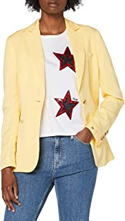 Tommy Hilfiger Linen Tencel SB Blazer Chaqueta de Traje para Mujer