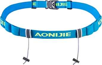 Azarxis Triathlon Race Number Belt Running Bib Holder for Marathon Cycling Elastic Adjustable Multifunction with 6 Gel Loops