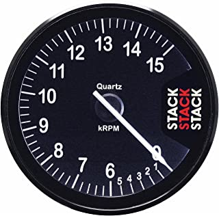 Stack ST200-0615 Clubman Black 80mm 0-6-15k RPM Tachometer