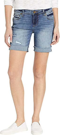 Catherine Boyfriend Shorts in Admired/Medium Base Wash