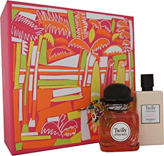 Hermes Twilly D'hermes for Women 2 Piece Set (2.8 Ounce Eau De Parfum Spray + 2.7 Ounce Moisturizing Body Lotion)