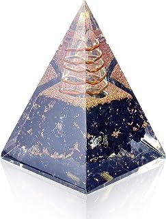 Orgone Pyramid-Black Tourmaline-Crystal-Chakra Balancing Orgone Energy Generator- Nubian Orgonite Pyramid for E-emission Protection – Healing Crystal Boost Immune System Meditation
