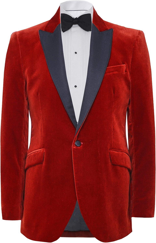 Favourbrook Max 78% OFF Men's Slim Fit Jacket Velvet Orange Dinner Mail order cheap