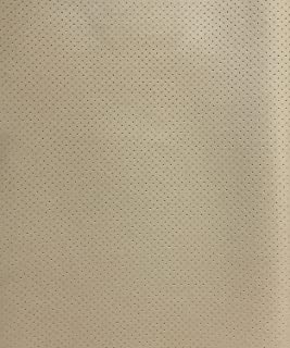 Vinyl Faux leather Light neutral Perforated All the way though Commercial Marine Grade Upholstery Fabric Per Yard