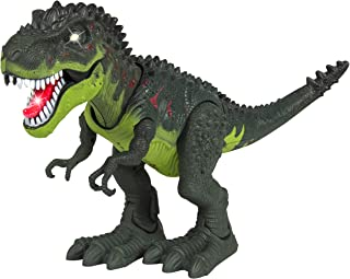 Best Choice Products Kids Battery-Powered Walking Tyrannosaurus Rex T-Rex Dinosaur Action Figure Toy w/ Light-Up Mouth, Eyes, Sound, Realistic Movement