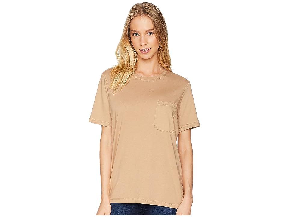 Richer Poorer Crew Pocket Tee (Tan) Women's T Shirt