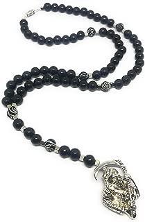 Acrylic Holy Death's Rosary. Rosario de la Santa Muerte de acrilico. Grim Reaper Y Style Necklace.