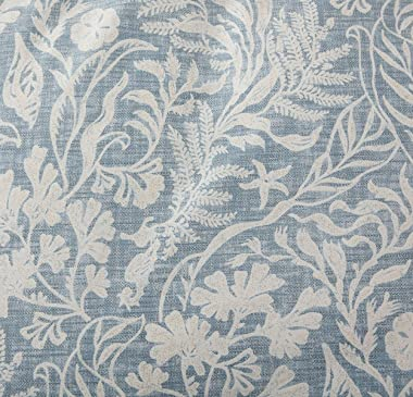 SLEEPBELLA Duvet Cover Set King, Beige & Bluish Grey Botanical Luxurious Pattern Leaves Printed with Khaki Embroidered Flange