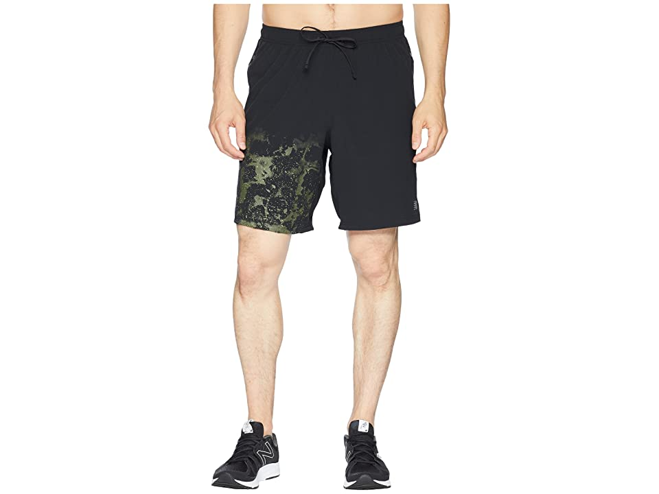 New Balance Printed Max Intensity Shorts (Black Multi) Men