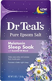 Pure Epsom Salt, Melatonin Sleep Soak with Essential Oil Blend Teal's, 3 Lbs