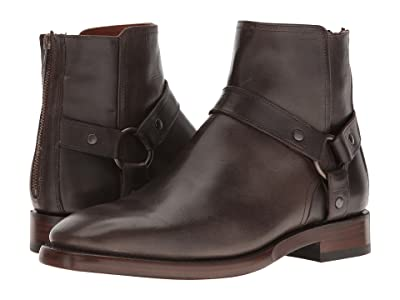 Frye Weston Harness (Charcoal Oil Tanned Full Grain) Men
