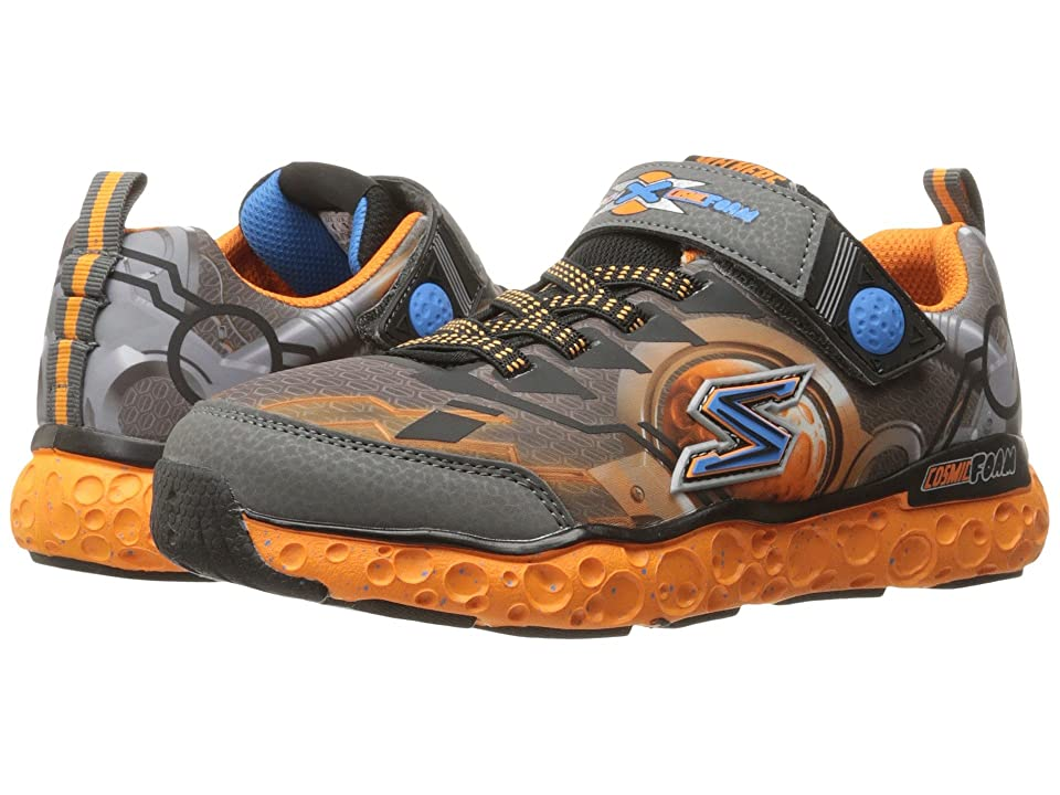 SKECHERS KIDS Cosmic Foam Futurist 97501L (Little Kid/Big Kid) (Charcoal/Orange) Boy