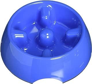 Dogit Go Slow Anti-Gulping Dog Dish, Slow Feeding Dog Bowl Suitable for Wet Or Dry Food, Large, Blue