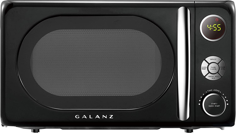 Galanz GLCMKA07BKR Retro Small Size Microwave