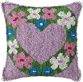 DIY Latch Kits Crochet Coussin Coussin Faire des Kits avec Motif de Toile imprimée Modèle de Broderie Crochet Artisanat po...